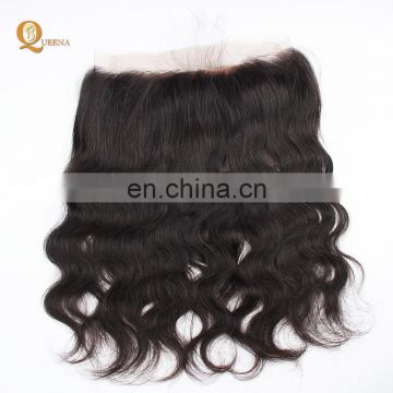 100% Human Unprocessed Hair Indian Hair Lace Front Closures 360 Lace Frontal With Bundles