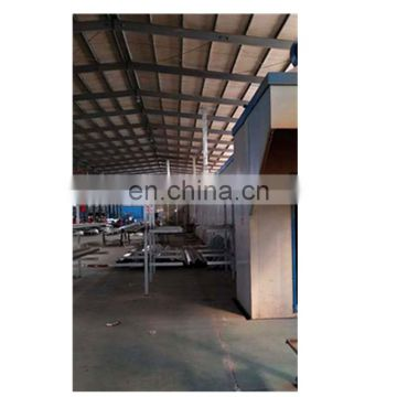 Automatic powder coating booth for aluminium profiles 62