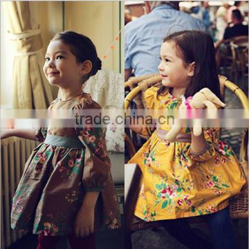 Puff Sleeve Floral Girl Dress 2015 Wholesale 6Years