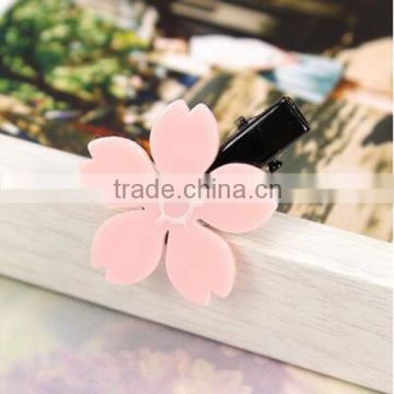 New Arrival Fashion Korea Style Pink Flowers Hairpin Bobby Pin Elastic Hair Band Cute Hair Accessories For Children &Girls Gift