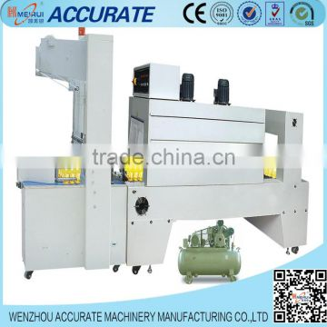 Semi-auto PE film shrink package machine mineral water juice packaging machine