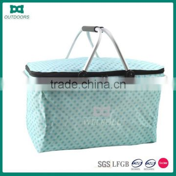 Wholesale Grocery Reused Handle Foldable Shopping Basket