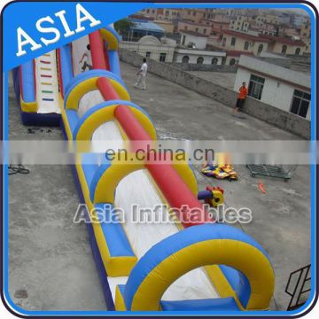 Giant Single Lane Inflatable Water Slide With Slip N Slide