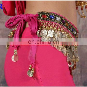 Cheap 248 and 338 coins Belly dance silver coins hip scarf Y-2035#