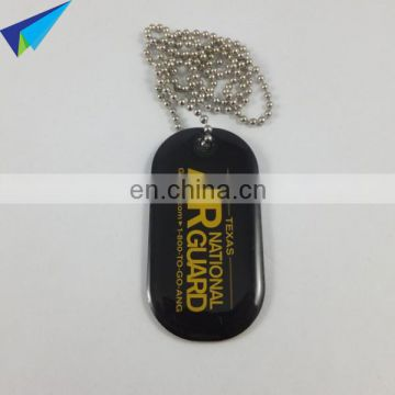 Dongguan made Military dog identification tag with metal chain