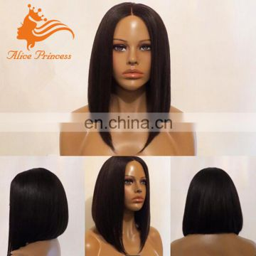 7A Grade Silk Top Full Lace Bob Wig Virgin Peruvian Human Hair Wig With Natural Scalp Silky Straight Hair For Black Women