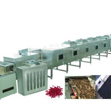 Microwave root powder drying sterilization equipment