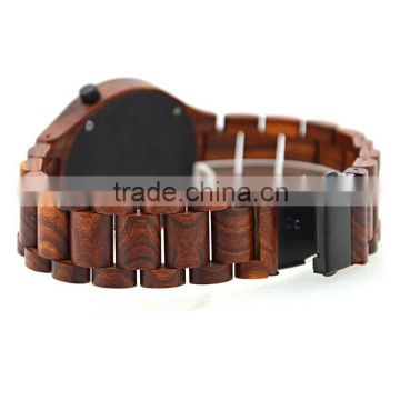 Raw material natural wood made handcraft wooden watch with best design