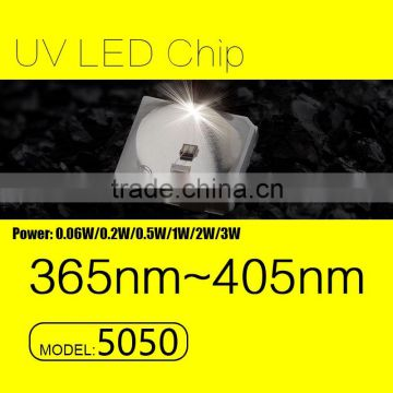 UVLED 5050 smd uv led 365nm 0.5W with CE rohs LOW price