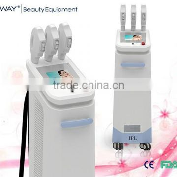 Face Lifting 2014 Christmas Promotion!!! Ipl Hair Removal Skin Whitening Beauty Equipment/e-light Ipl Rf+nd Yag Laser Multifunction Machine