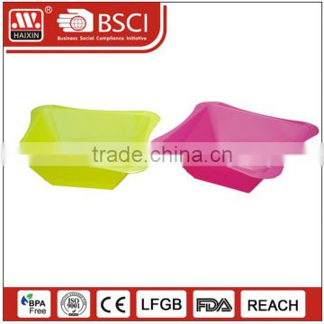 Eco-friendly Square color customized PP material microwaveable plastic salad bowl