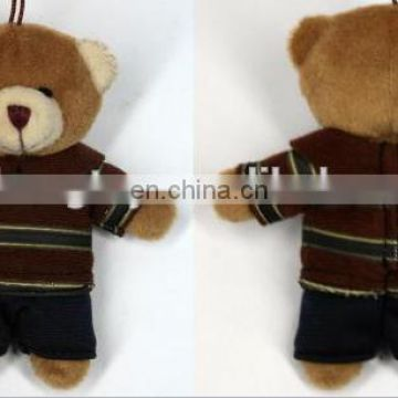 10cm Plush Bear keychain/teddy bear Keychain with T-shirt min teddy bear keychain toy