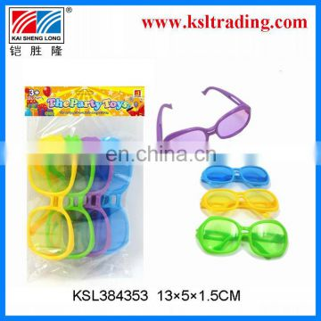 Promotional toy plastic kid's toy glasses(4pcs)