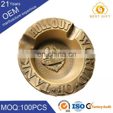 OEM logo antique brass windproof dubai souvenir collection ashtray