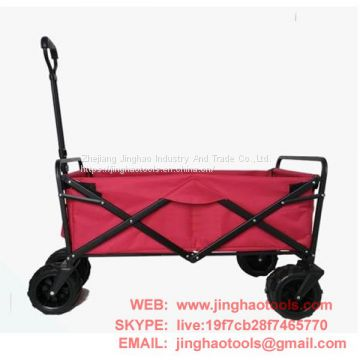 Folding Collapsible Sturdy Steel Frame Garden/Beach Wagon/Cart