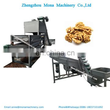 Factory supply walnut cracking shelling machine production line / walnut shell separating machine for sale