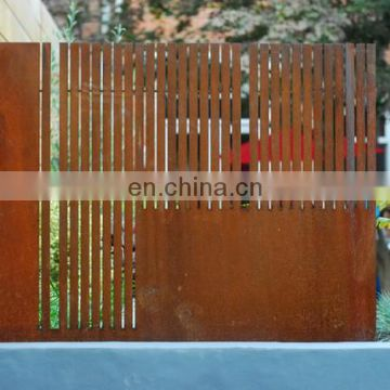decorative rusty metal fence panel privacy for room divider