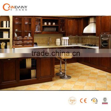 Wholesale solid wood kitchen cabinet mdf kitchen cabinet for Cheap solid wood kitchen cabinets