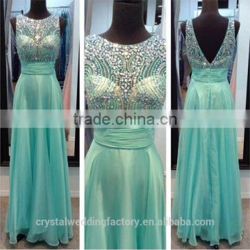 2016 Real Sample Fashion Sexy Chiffon Long Wedding Party Formal Dresses Vestido De Festa Longo Prom Dress CWFp2334