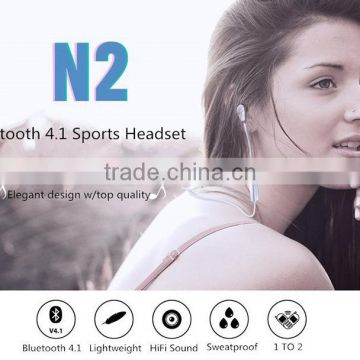 New CSR Bluetooth Speaker 4.1 Moistureproof High Quality Portable Wireless Bluedio N2 Bluetooth Earphone
