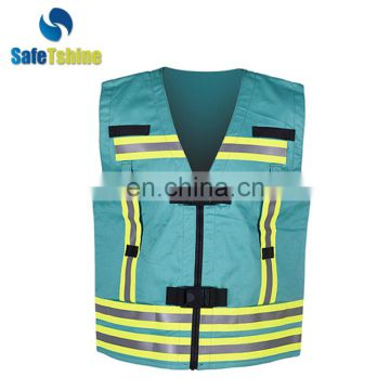 protective reflective modacrylic high visibility flame retardant safety vest