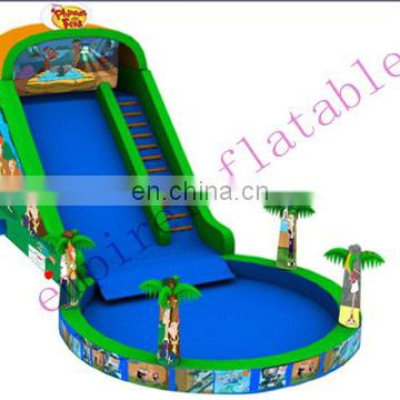 The most popular inflatable pool slide for sale WS055