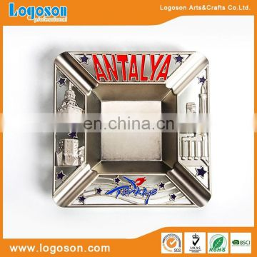 Custom logo design rectangular metal ashtray