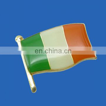 custom print india flag badge with epoxy