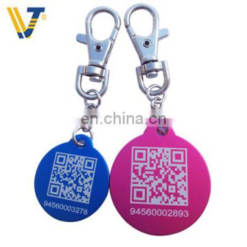 Wholesale black custom blank anodized aluminum dog tags for pets of