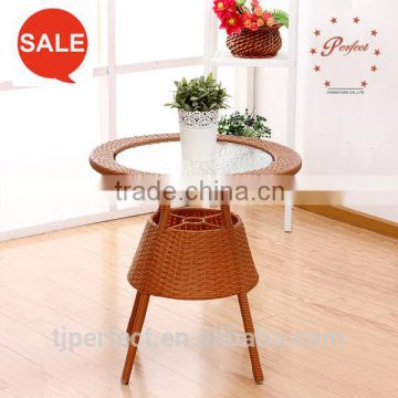 hot sale buffet rattan patio garden furniture with leisure armchairs