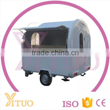 Two Wheels Street Mobile Customized Logo Semi-Trailer Food Truck| Mobile Fast Food Trailer| Food Cart Cooking Trailer