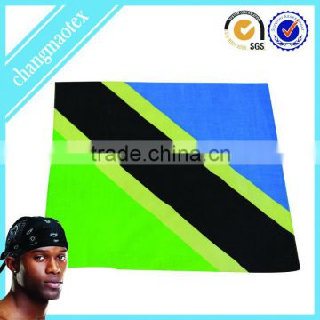 yellow and black stripe newest printed bandana
