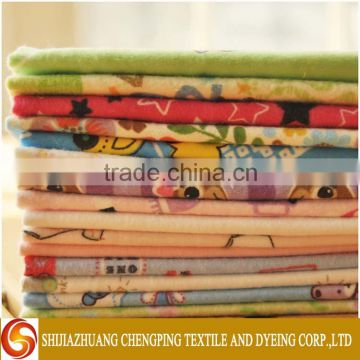 Competitive Price Woven Techniques Custom Printed 100% Cotton Flannel with Soft Hand Feeling