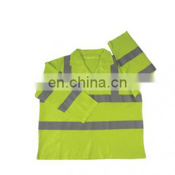Hi vis reflective coverall in workwear rain tacket