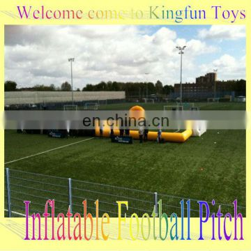 Best price inflatable soccer field with entrance