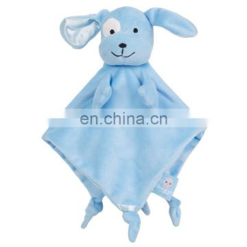 Lovely plush animal head baby blanket toys Baby comforter blanket CE testing