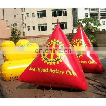 inflatable triangular mark buoys for water advertisement
