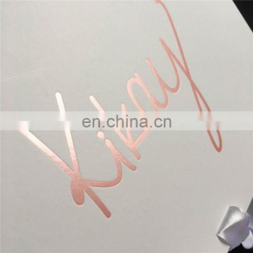 Can shoose rose gold color stamping white gift box 35*24*3.82cm