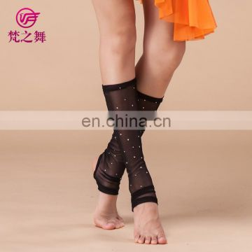 Wholesale sexy hot dril net cloth women belly dance black socks accessory P-9060#
