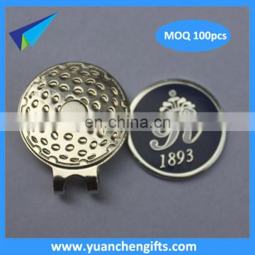 2016 Customized cap clip with ball marker golf set