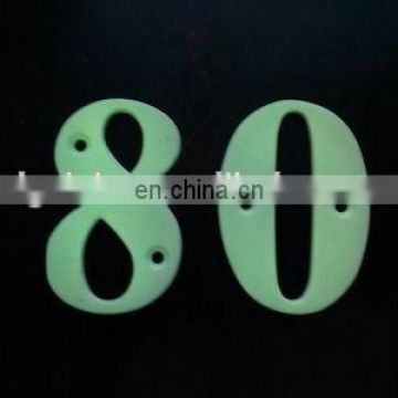 High quality decorative metal luminous reflect door numbers