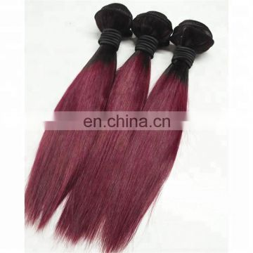 Factory Two Tone Remy Brazilian Hair Weft Sew in Human Hair Extension