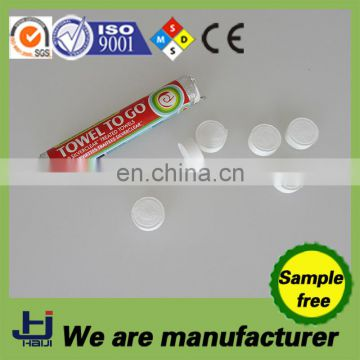 China OEM manufacture factory cotton mini compressed napkins