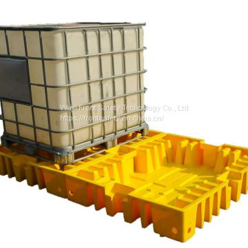 PE IBC SPILL PALLET-Low profile for 2 IBC tanks