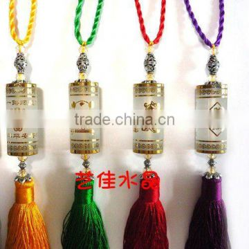 Christmas Gift coloured glaze crystal pendant hanging car ornaments be used to hang in car decoration ornaments adorn