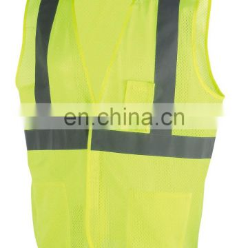 High Visibility Mesh Safety Reflective Vest with Pockets