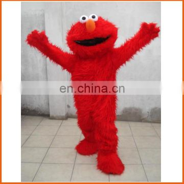 Best selling CE sesame street mascot costume, elmo mascot costume, adult cookie monster costume