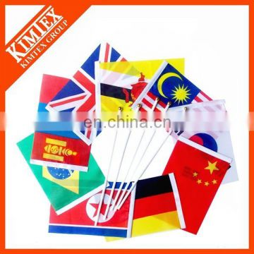Wholesale cheap car or hand custom country flag