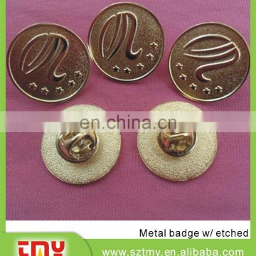 Glitter with soft enamel lapel pin manufacturers