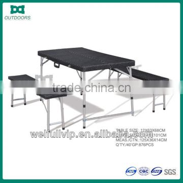 Portable folding table and chair set